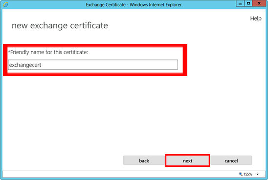 Add the friendly name for the certificate. This is not crucial in how you name it.