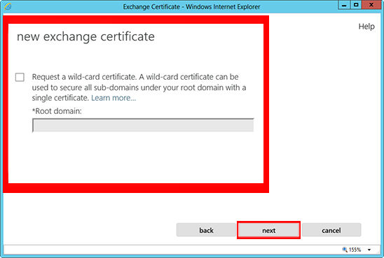 Only do this step if you are getting a Wildcard Certificate. If not, skip this step.